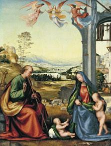 La Sagrada Familia con san Juanito , Fra Bartolomeo