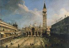 La plaza de San Marcos en Venecia,  Canaletto