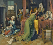 The Birth of the Virgin, Jan de Beer