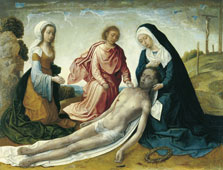 The Lamentation over the dead Christ, Juan de Flandes