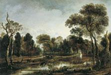 Bosque con un río, Aert van der Neer