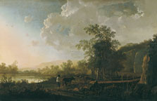Landscape with a Sunset, Aelbert Jacobsz. Cuyp