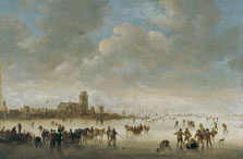 Winter Landscape with Figures on the Ice, Jan Josephsz. van Goyen