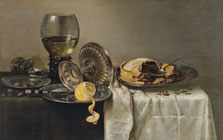 Still Life with Fruit Pie and various Objects, Willem Claesz. Heda