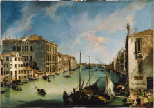 The Grand Canal from San Vio, Venice,  Canaletto