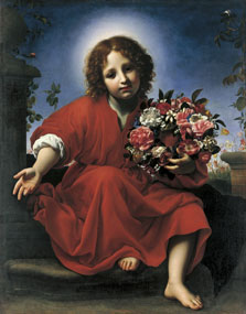 The Infant Christ with a  Floral Wreath, Carlo Dolci