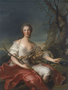 Portrait of Madame Bouret as Diana, Jean-Marc Nattier