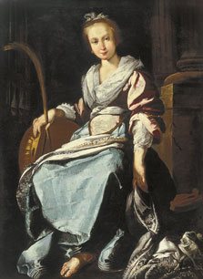 Saint Cecilia, Workshop of Bernardo Strozzi