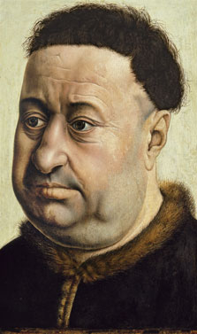 Portrait of a Stout Man. Robert de Masmines (?), Robert  Campin