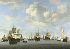 The Dutch Fleet in the Goeree Roads, Willem van de Velde II