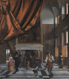 Interior of the Council Chamber of Amsterdam Town Hall, Pieter Hendricksz. de Hooch