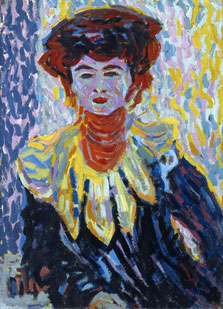 Doris with Ruff Collar, Ernst Ludwig Kirchner