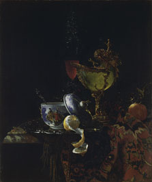 Still Life with a Chinese Bowl, a Nautilus Cup and other Objects, Willem Kalf