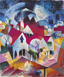 Group of Houses in Spring, Johannes Itten