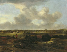 View of Haarlem from the Dunes, Jan Vermeer van Haarlem II