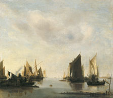 Coast Scene with Sailing Vessels, Jan van de Cappelle