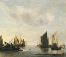 Coast Scene with Sailing Vessels, Jan van de Cappelle