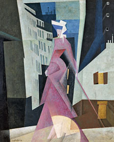 The Lady in Mauve, Lyonel Feininger