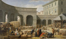 The Courtyard of the Customs House, Nicolas-Bernard Lépicié