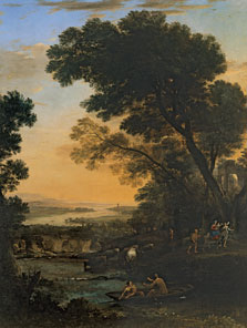 Pastoral Landscape with a Flight into Egypt, Claude Lorraine