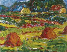 Paisaje de otoño en Oldenburg, Karl Schmidt-Rottluff