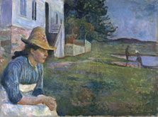 Evening, Edvard Munch