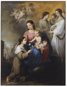 The Virgin and Child with Saint Rose of Viterbo,  Murillo