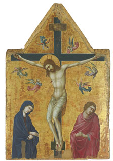 The Crucifixion with the Virgin, Saint John and Angels, Ugolino di Nerio (Ugolino da Siena)