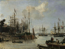A View of the Harbour, Rotterdam, Johann Barthold Jongkind