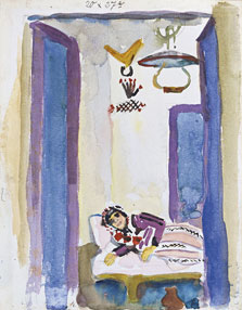 Woman on a Divan, August Macke