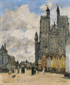 The Square of the Church of Saint Vulfran in Abbeville, Eugène Boudin