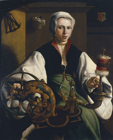 Portrait of a Lady spinning, Maerten van Heemskerck