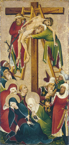The Descent from the Cross (front),  Anonymous German Artist active in the Middle Rhine