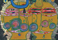 Sun and Moon. The Aztecs,  Hundertwasser