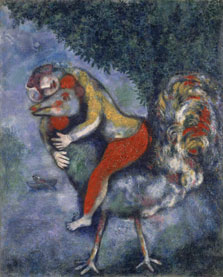 El gallo, Marc Chagall