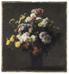 Vase with Chrysanthemums, Henri Fantin-Latour