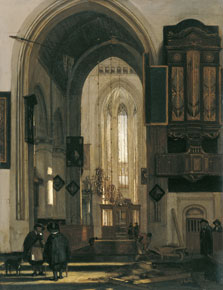 Interior of a Gothic Church, Emanuel de Witte