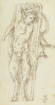Un sátiro, Giulio  Romano