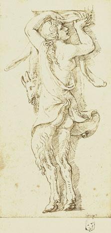 A female Satyr, Giulio Romano