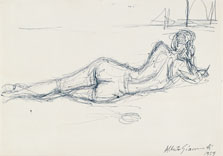 Reclining Nude from the Back, Alberto Giacometti