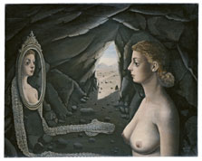 Woman in the Mirror, Paul Delvaux