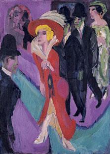 Calle con buscona de rojo, Ernst Ludwig Kirchner
