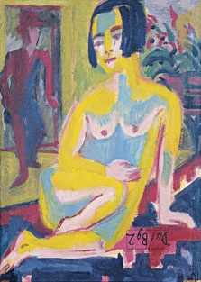Seated Female Nude. Study (verso), Ernst Ludwig Kirchner