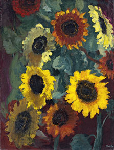 Glowing Sunflowers, Emil Nolde