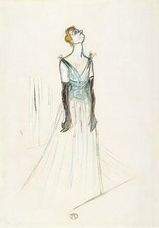 Yvette Guilbert, Henri de Toulouse-Lautrec