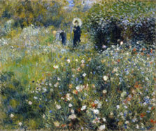 Woman with a Parasol in a Garden, Pierre-Auguste Renoir