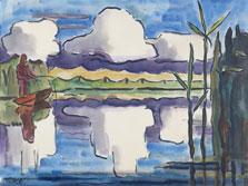 Reflecting Clouds, Karl Schmidt-Rottluff