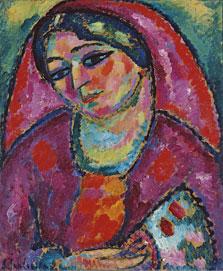 El velo rojo, Alexej von Jawlensky
