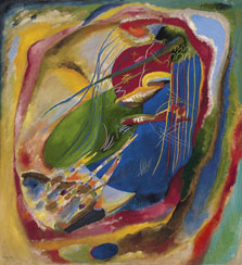 Picture with Three Spots, No. 196, Wassily Kandinsky