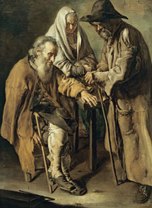 Group of Beggars, Giacomo Ceruti